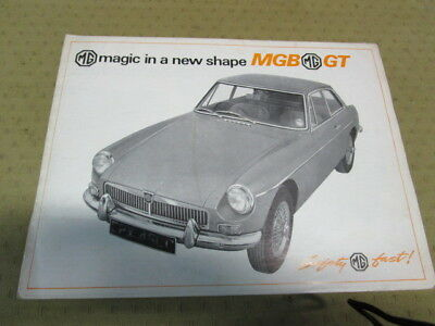Catalogue Brochure Depliant Mgb  Gt      Langue Anglais