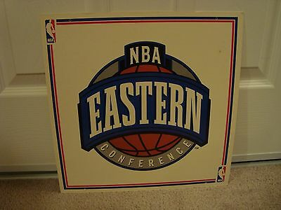 Early 90's NBA Official Licensed Product Display Sign Eastern Conference