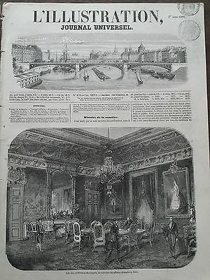 THE ILLUSTRATION 1856 No. 679 - ROOM THE CONFERENCE OF THE CONGRES, à PARIS