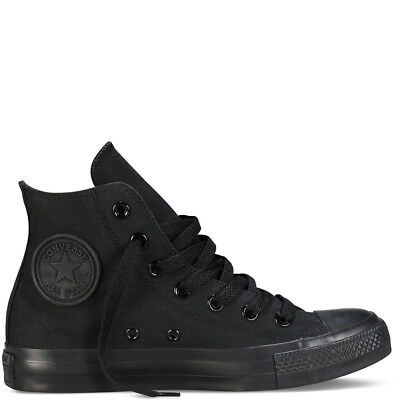 Scarpe Sneakers Converse Chuck Taylor All Star High Alte Nero Unisex, Uomo Donna