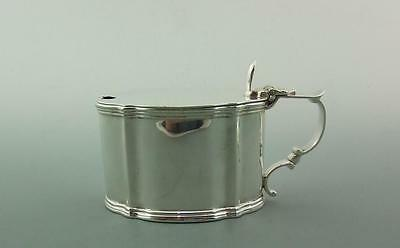 Superb Edwardian Large Oval  Solid Silver Mustard Pot Goldsmiths & Silversmiths
