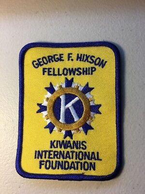 "Kiwanis International George F Hixon Fellowship Embroidered Patch 4"" X 3"""