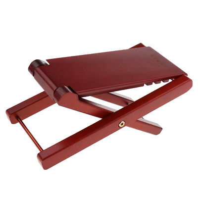 Exquisite Brown Guitar Footrest for Guitarist Stage Accessory 27x13.5x2.5cm
