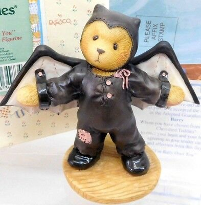 "Cherished Teddies ""Barry"" Enesco #270016  I'm Batty Over You Bat Figurine NEW!"