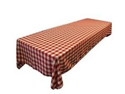 Outdoor Patio Dining Table Cloth Cover Small Picnic Square Pub For Summer RED