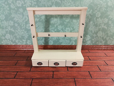 Dollhouse Miniature Handmade Hanging Kitchen Shelf with Drawers 1:12 Scale