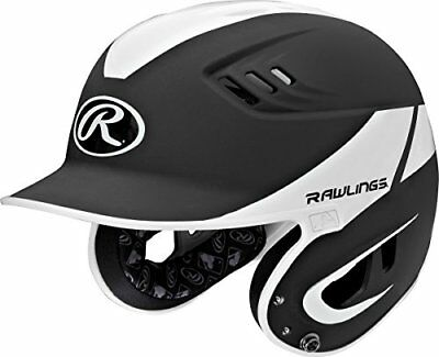 Rawlings R16A2J-MBK/W Junior Baseball R16 Away Sized Helmet, Black