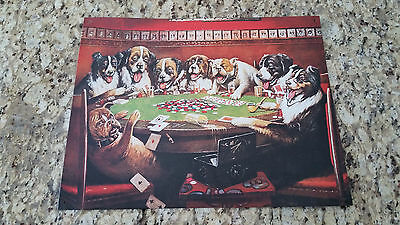 8 Beer Drunken Dogs Tin Sign - Playing Cards - Poker Gambling - Item #497