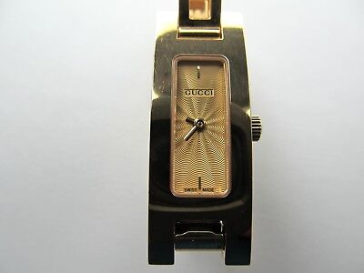 52c191227a5 Aunthenic Gucci 3900L Gold Plated Womens Watch