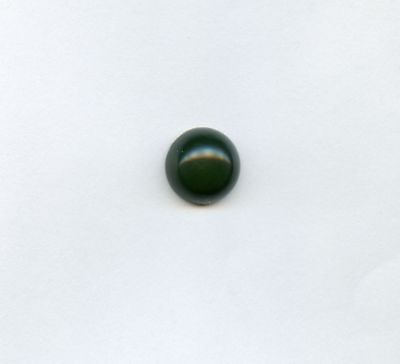 12mm Natural Nephrite Green Jade Round Cabochon for One