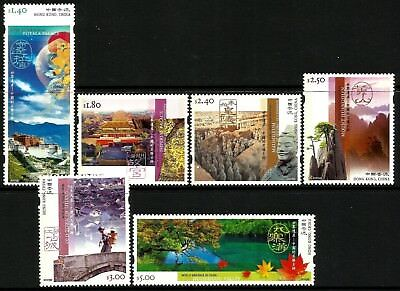 Hong Kong 2003 UNESCO World Heritage Sites in China Set of 6 MNH