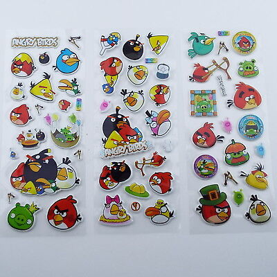 s3f BUY 1 2 Pick 1 from 3 Designs 3d Puffy Stickers Scrap Booking Card Animal