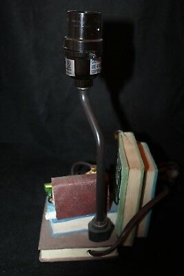 John Deere Tractor DL24 Library Books Clock Table Lamp w/ Shade