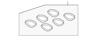 FORD OEM-Engine Intake Manifold Gasket AT4Z9H486A