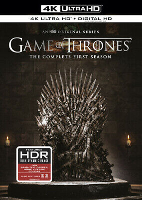 Game of Thrones: The Complete First Season [New 4K Ultra HD] Black, Boxed Set,