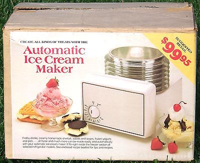 1980's ADMIRAL in-freezer AUTOMATIC ICE CREAM MAKER - NIB