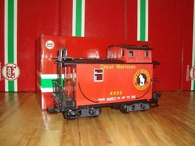 Lgb 46653 Red Great Northern 4-Axle Caboose Brand New In Original Box!