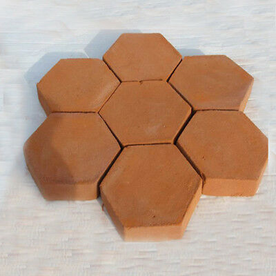 Hexagon Driveway Paving Pavement Stone Mold Stepping Pathmate Mould Paver.