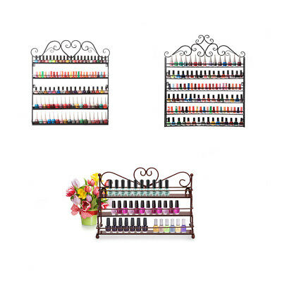 3/5/6 Tier Nail Polish Display Wall Rack Metal Organizer Fit Up To 120 Bottles