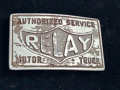 Vintage?   Remake?  Authorized Service Relay Motor Truck Belt buckle