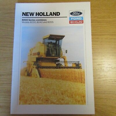 ford new holland 8000 series 8030 8040 8055 combine harvester rh picclick co uk New Holland Mower Manual New Holland TN65 Manual