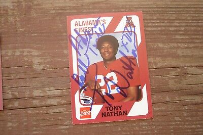 TONY NATHAN 1989 Collegiate Collection Signed ALABAMA'S Finest Autograph