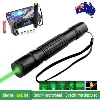 Powerful 900 Laser Pointer Pen - Green Beam with 18650 Rechargeable Battery