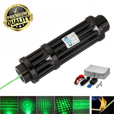 High Power 532nm Focus Visible Green Beam Laser Pointer Pen set with Battery AU