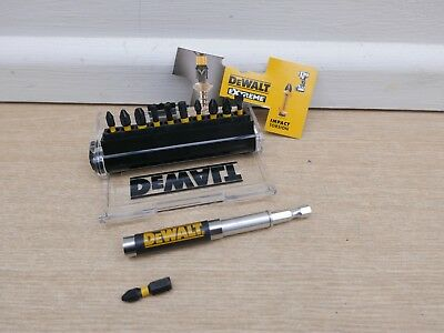 Dewalt Extreme 12Pce Impact Torsion Screwdriver Bit Set In Handy Case