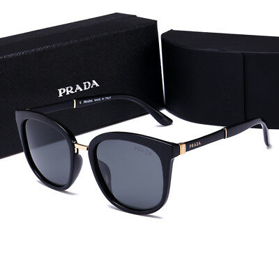 SunglassesSport Polarized Prada@¹Black Frame Grey Square Lens2018