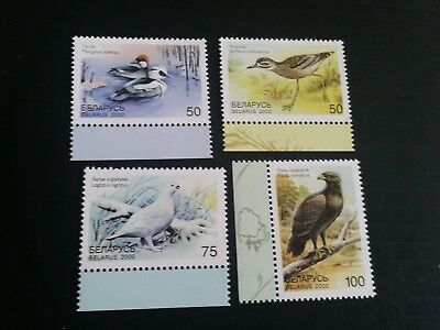 Belarus 2000 Sg 397-400 Birds In The Red Book Mnh   (G)