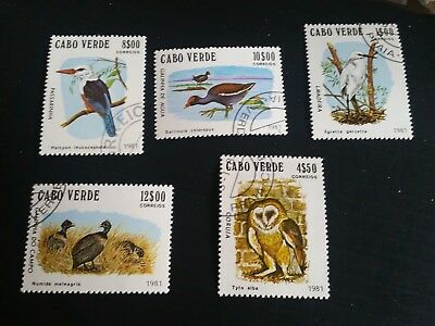 Cape Verde Islands 1981 Sg 512-516 Birds Used  (G)