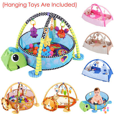 Baby Gym Play Mat Lay & Play 3 in 1 Fitness Music And Lights Fun Toy Boy & Girl