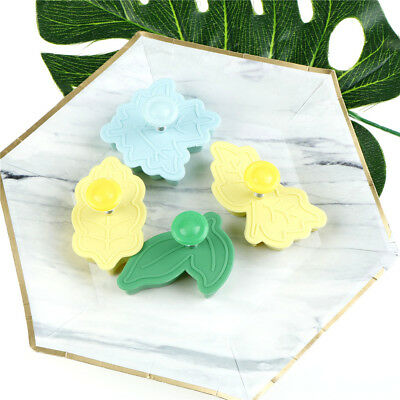 4pcs leaves press baking mold cake biscuit mould cookie cutter biscuit mold M&C