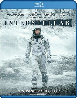 INTERSTELLAR New Blu-ray Christopher Nolan Matthew McConaughey Anne Hathaway