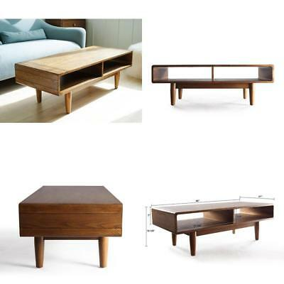 188981a98421 Hives and Honey Haven Home Dexter Mid-Century Deco Walnut Coffee Table