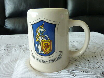 Ceramic Tankard Stein - The Unicorn Of Scotland - Made In Japan