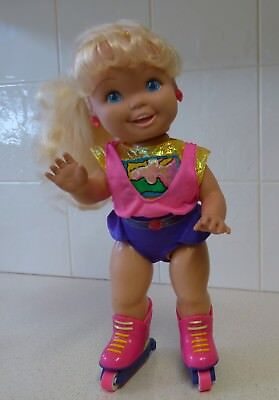 California Roller Baby - Tyco Doll - 1992 - Hard Plastic - Works Well