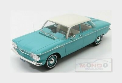 Chevrolet Corvair 4-Doors Sedan 1961 Tourquise White PREMIUM-X 1:18 PR18009 Mode