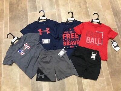 Under Armour Toddler Boys 2T Lot Of Shorts And T Shirts New $108