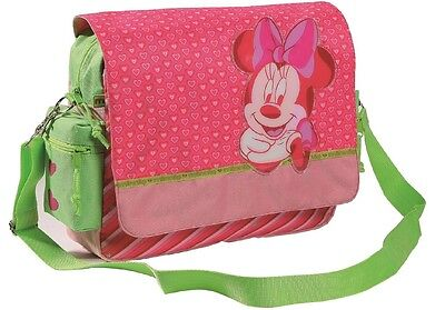 10 X Disney Minnie Mouse Shoulder Bag with Strap Pink / Green