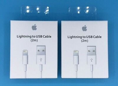 2X OEM Lightning USB Cable Charger for Original Apple iPhone 5 8 7 6 Plus 2m/6FT