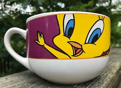 Tweety Bird Oversized Soup Coffee Mug ~ 1998 Looney Tunes Warner Bros