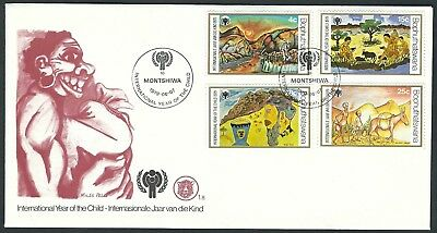 Bophuthatswana - FDC Internationales Jahr des Kindes 1979 Mi. 43-46