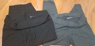 Gap pure body maternity underbelly Capri legging medium lot black gray
