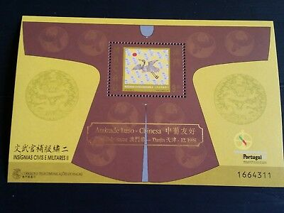 Macao 1998 Sg Ms1065 Insigna Of The Mandarins (2Nd Series) Mnh (H)