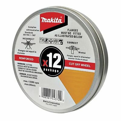 Makita REINFORCED CUT OF WHEELS 12 PACK  Metal Cutting Discs 125 mm FREE DELIVER