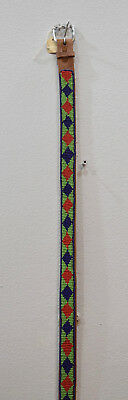 African Beaded Masai Leather Belt Hand Beaded Colorful Masai Leather Belt