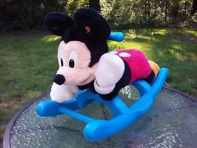 Disney Mickey Mouse Musical Plush Rocking Horse Child Toddler Riding Toy Rare