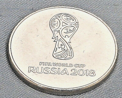 Russia 2018 World Cup Ruble Emblem Logo Circulated Football Coin Silver Eagle UK